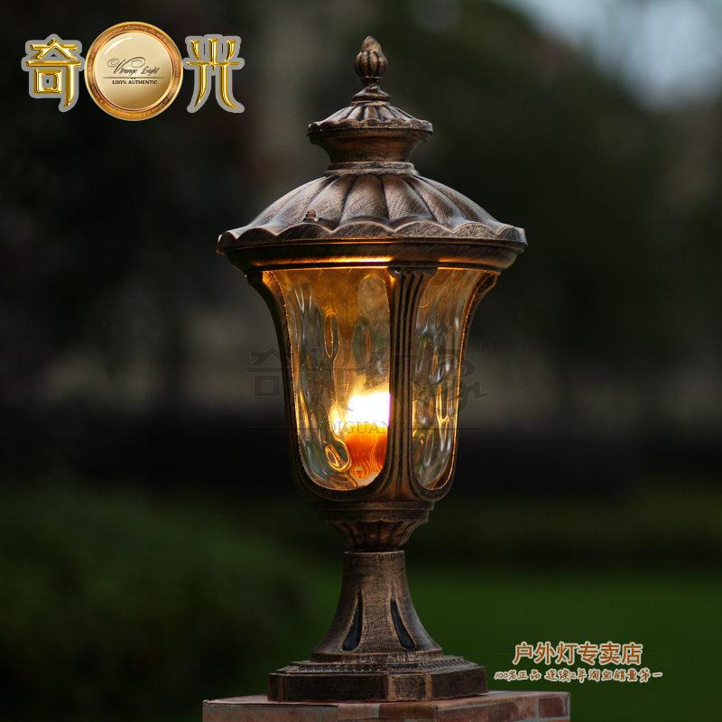 Aluminumglass post lamp outdoor fixture light e27 european aluminumglass post lamp outdoor fixture light e27 european vintage outdoor lighting lamps bronze 100 sciox Images
