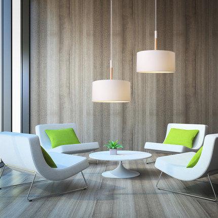 Black/white Fabric+iron Led Pendant Lighting Lamp Scandinavian Pendant  Lights Modern For Office