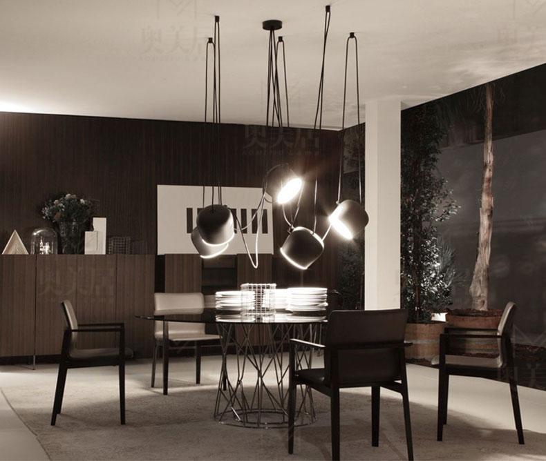 Bongos cafe bar restaurant chandelier modern showcase for Luminaire bar cuisine