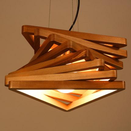 creative design light spiral wood pendant light burlywood dinning