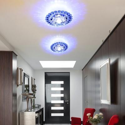 Entrance Lights Lighting Led Ceiling Light Modern Decorative Ceilings Plafonnier Cristal Rgb