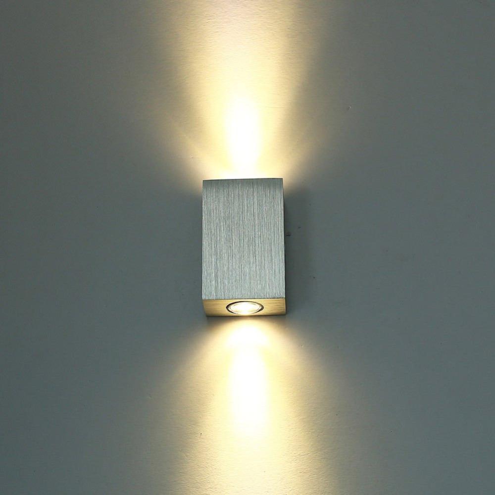 Ac85 265v 6w led warm white wall lamp bedside lamp bedroom for Led bedroom wall lights