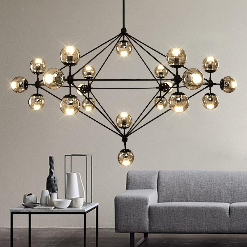 modern design glass chandeliers 21 lights modo lamp led. Black Bedroom Furniture Sets. Home Design Ideas