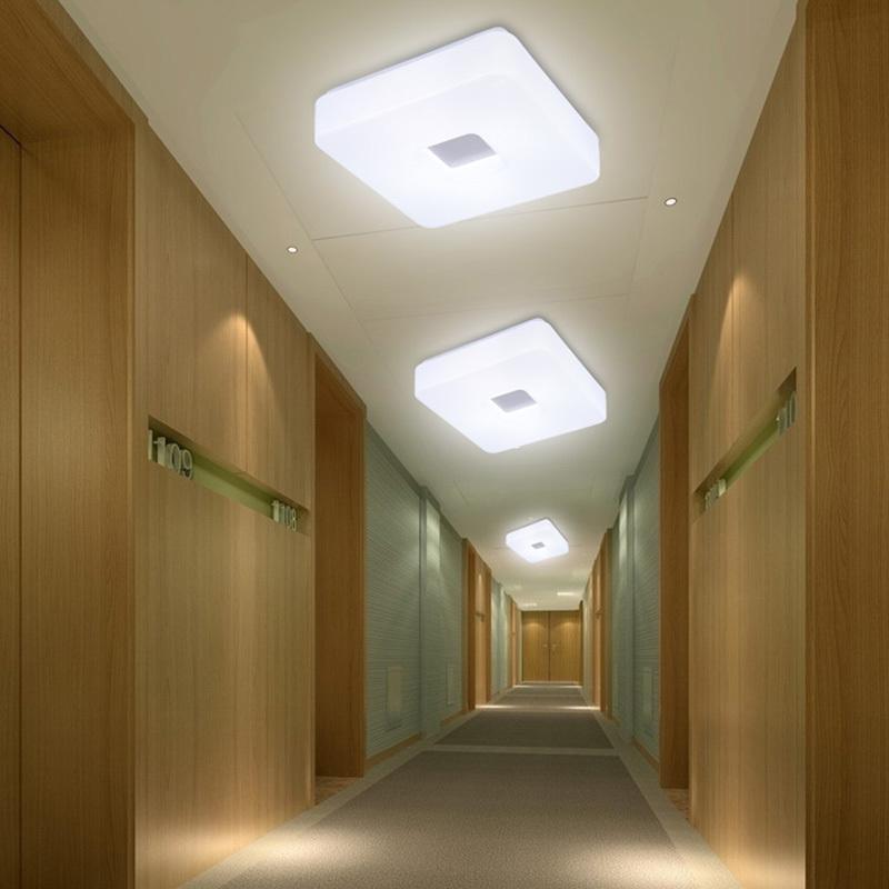 modern led flush mount surface mounted square shape led ceiling light for living room foryer hallway