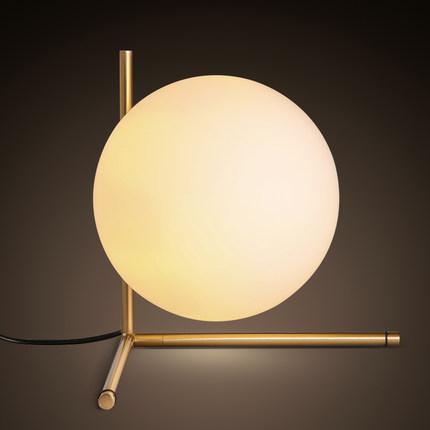 new design lovely kids desk table lamp brief glass ball table lamp ...