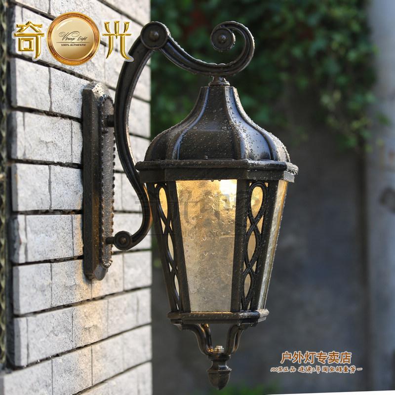 Outdoor lighting wall lamps 110v 220v garden wall light for Luxury landscape lighting