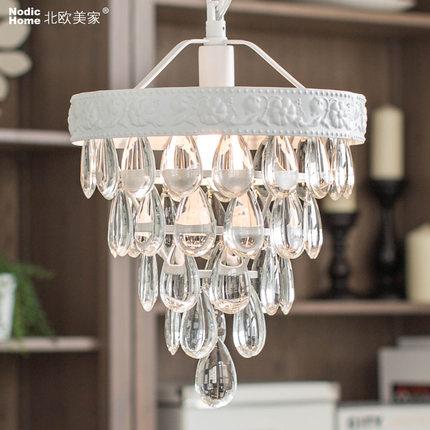rustic lighting chandeliers lamp for home modern luxury k9 crystal d25cm led e14x1 ac 100 240v. Black Bedroom Furniture Sets. Home Design Ideas