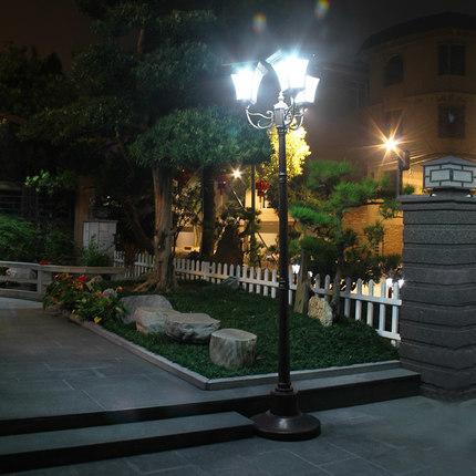 solar power outdoor garden pole lamp europe style led road light