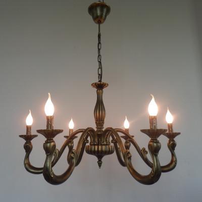 Vintage Bronze Chandelier Pendant Lamp
