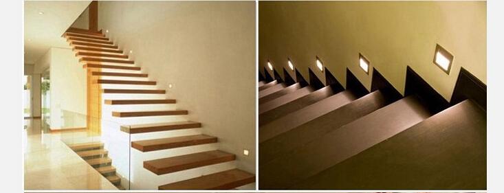 Corner Stair Tower At Night : Waterproof w v led stair step light recessed indoor