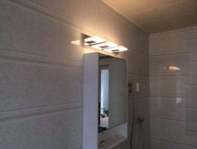 Crystal Bathroom Light Fixtures Stainless Steel Led Bath: Ac85v-265v 15w Warm White Led Stainless Steel Anti-fog