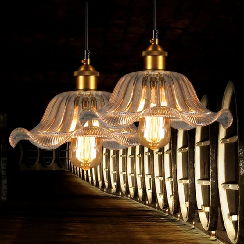 European Style Glass Pendant Light Bar Stair Decorative