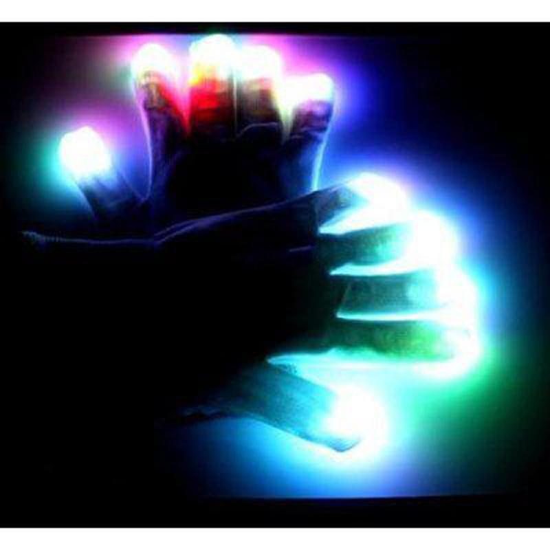 Led Wall Light Flashing: Led Gloves Rave 100pcs (50 Pairs) Light Flashing Finger