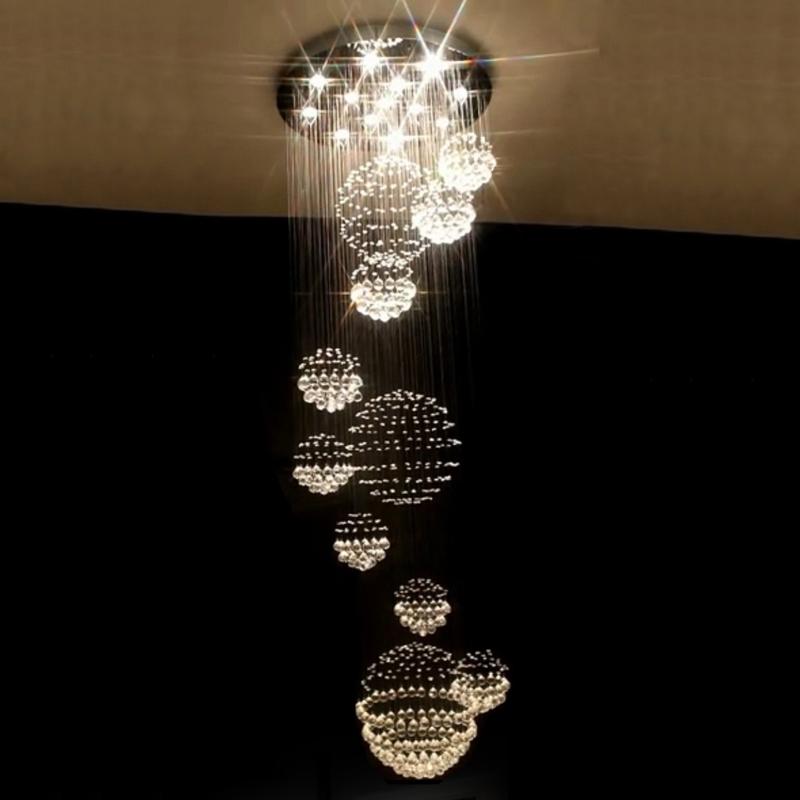 lustre design k9 large chandelier crystal lamps for el lobby crystal pendant stair chandelier. Black Bedroom Furniture Sets. Home Design Ideas