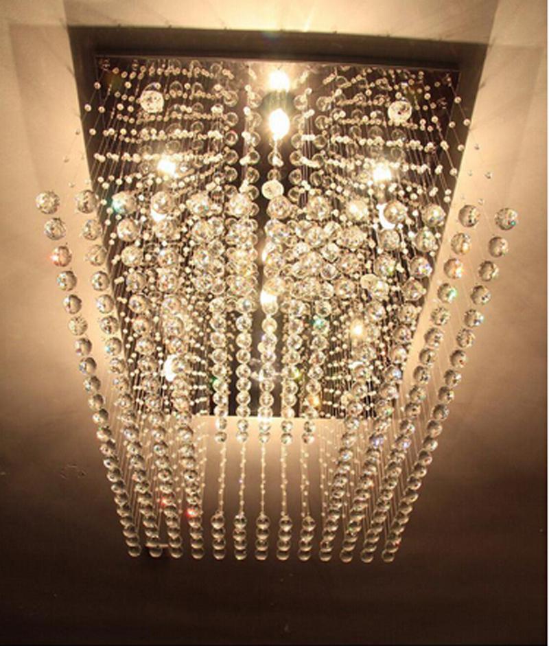 new design flush mount crystal chandelier led lamp lustre. Black Bedroom Furniture Sets. Home Design Ideas