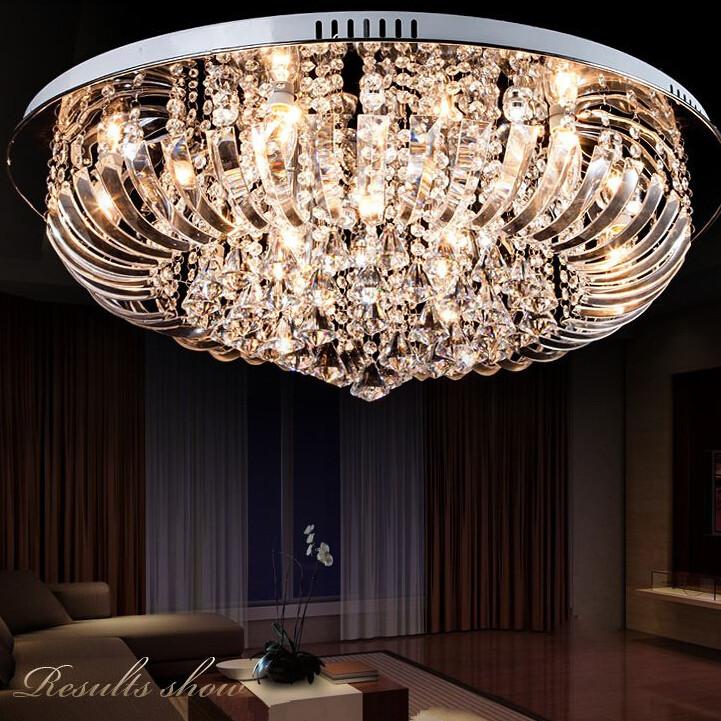 Modern Indoor Ceiling Lights : New lights lamp led crystal ceiling living