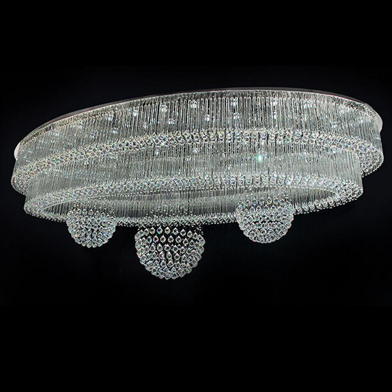 flush mount big crystal chandelier lighting fixtures for
