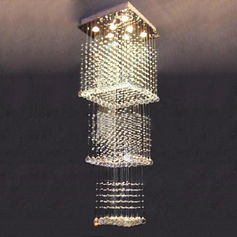 modern lighting lustres de lamparas crystal square. Black Bedroom Furniture Sets. Home Design Ideas