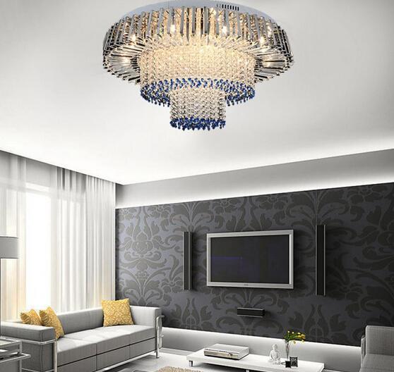 New Design Modern 3 Layers Led Crystal Chandelier Ceiling Lamp Home Decor Lighting El Lobby Light