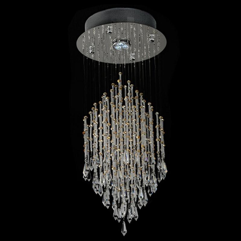 New design modern chandelier lighting crystal lamparas for for New modern lighting