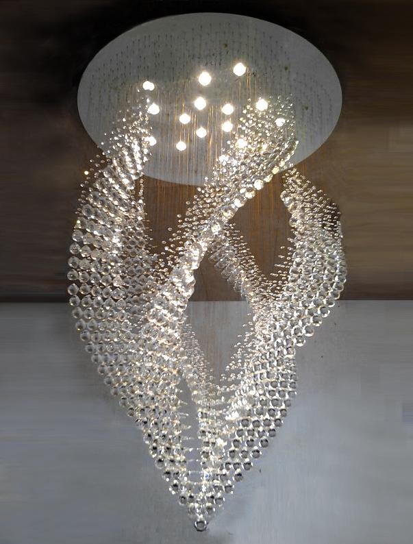 new light design flush mount crystal chandelier large ...