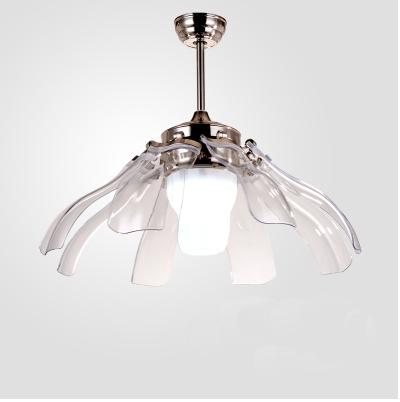 42 Inch Crystal Ceiling Fan Modern Led Ceiling Fan With
