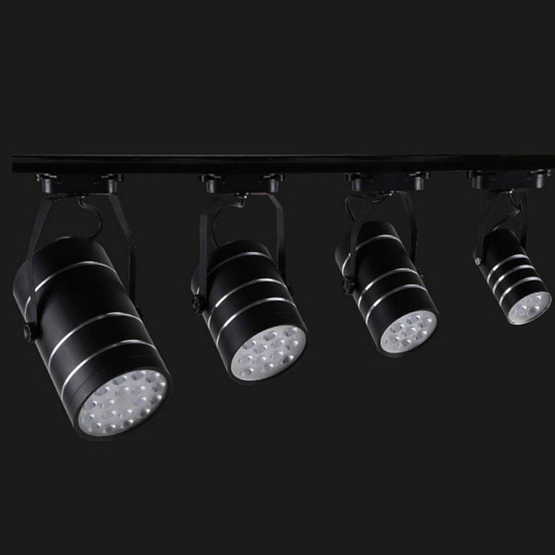 commercial art gallery led track lighting rail 18w led spotlight ceiling lamp fixture front. Black Bedroom Furniture Sets. Home Design Ideas