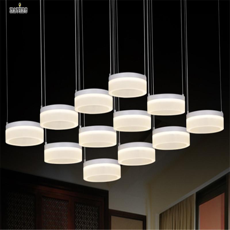 Contemporary Acrylic Led Pendant Light Circle Ring Led