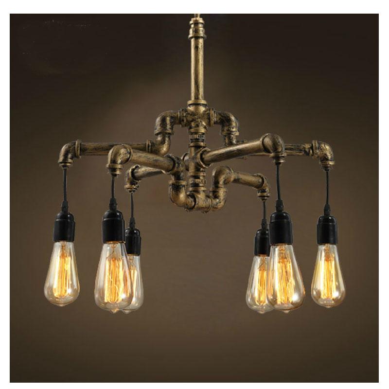 Copper Loft Vintage Retro Pulley Wrought Iron Pendant Light Industrial Lamps  E27 Edison Pendant Lamp Home