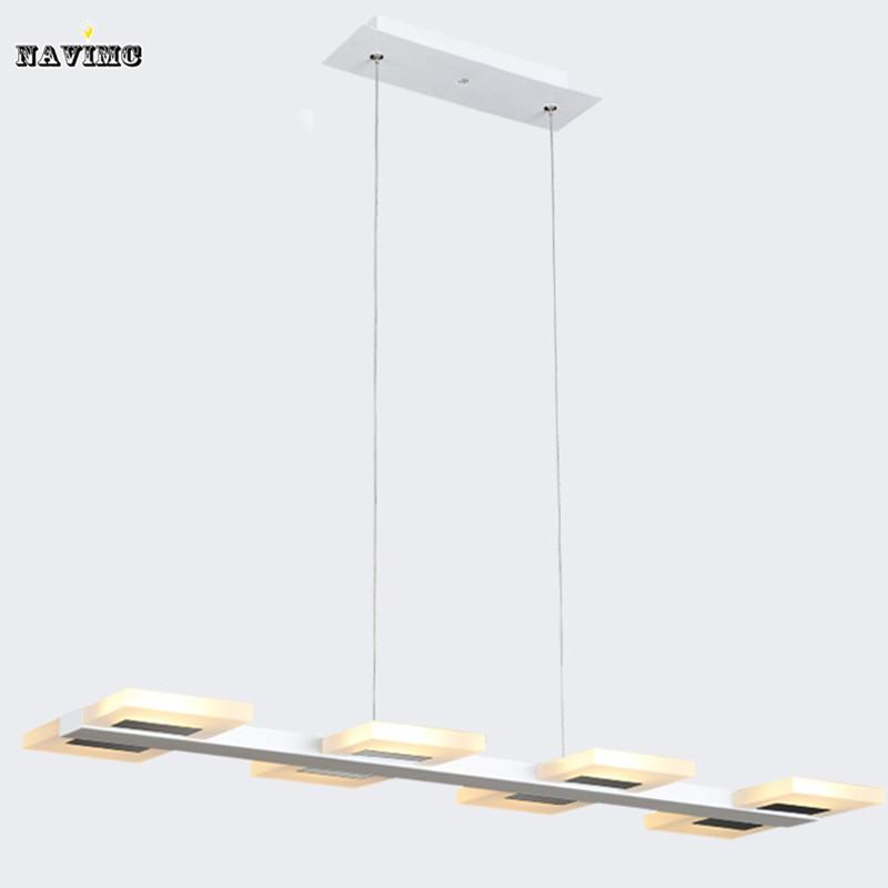 Creative Rectangular White Led Pendant Light Acylic