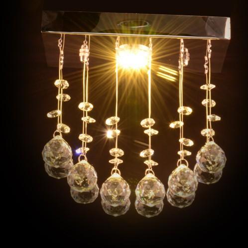 Crystal Pendant Lighting 220v 1 Gu10 Light L20cmheight
