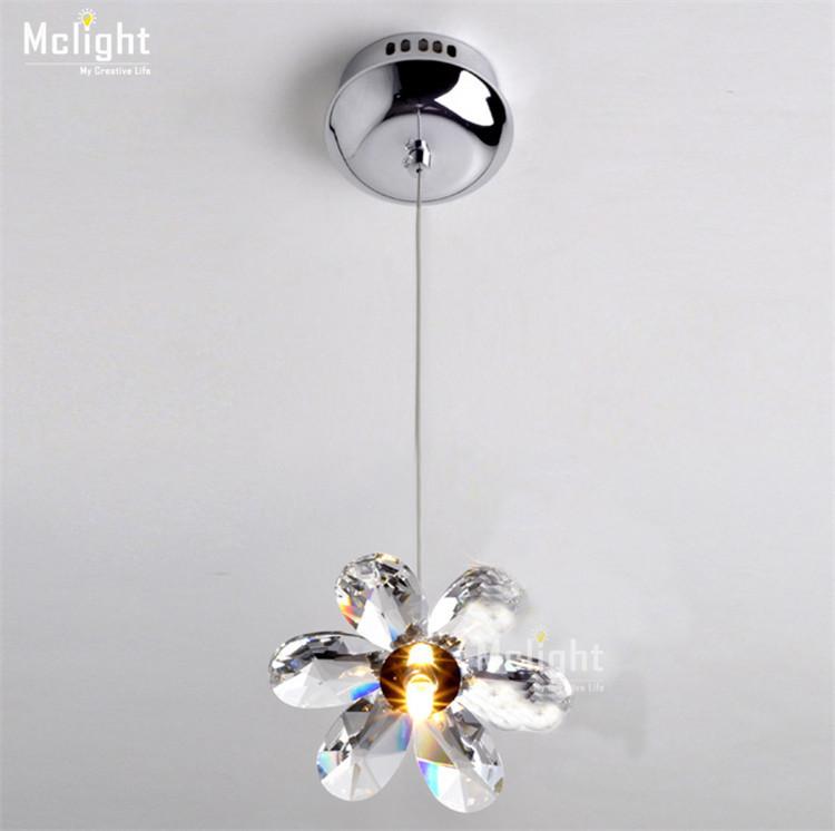 Diy mini modern flower crystal pendant lights hanging lamp crystal lighting fixture droplights - Diy pendant light fixture ...