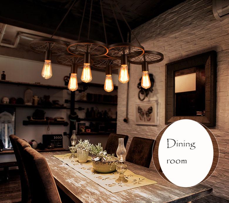 Industrial vintage loft black warehouse pendant lights for