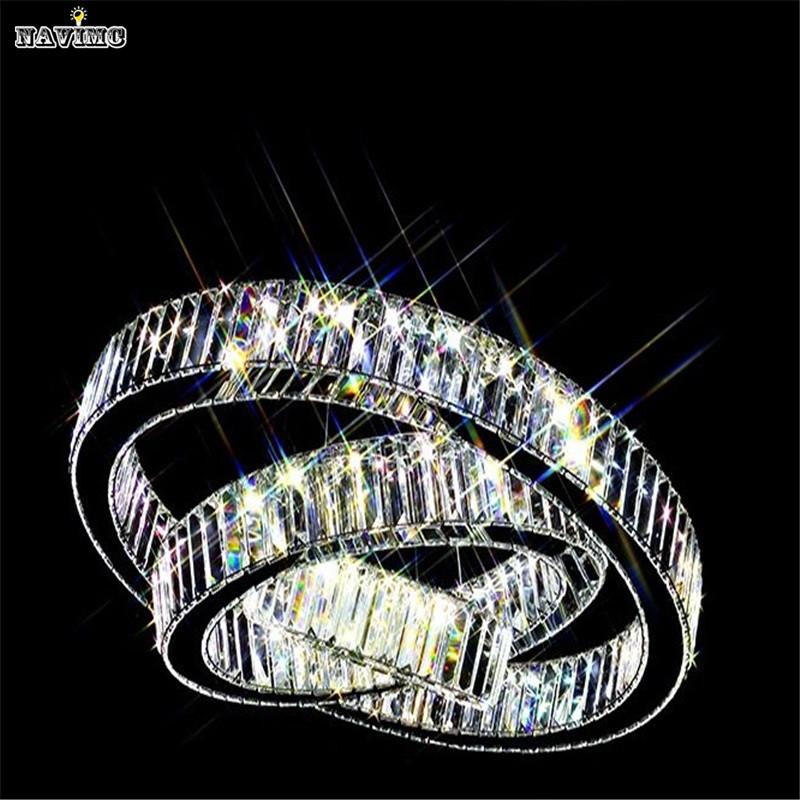 led k9 luxury crystal ring pendant light for dining room lamp lustres de cristal suspension. Black Bedroom Furniture Sets. Home Design Ideas