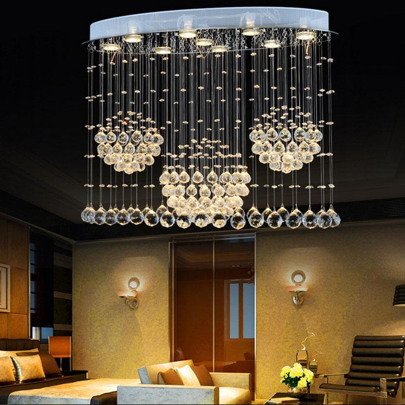 Luxury Foyer Chandeliers : Luxury led flower ball crystal chandelier light fixture