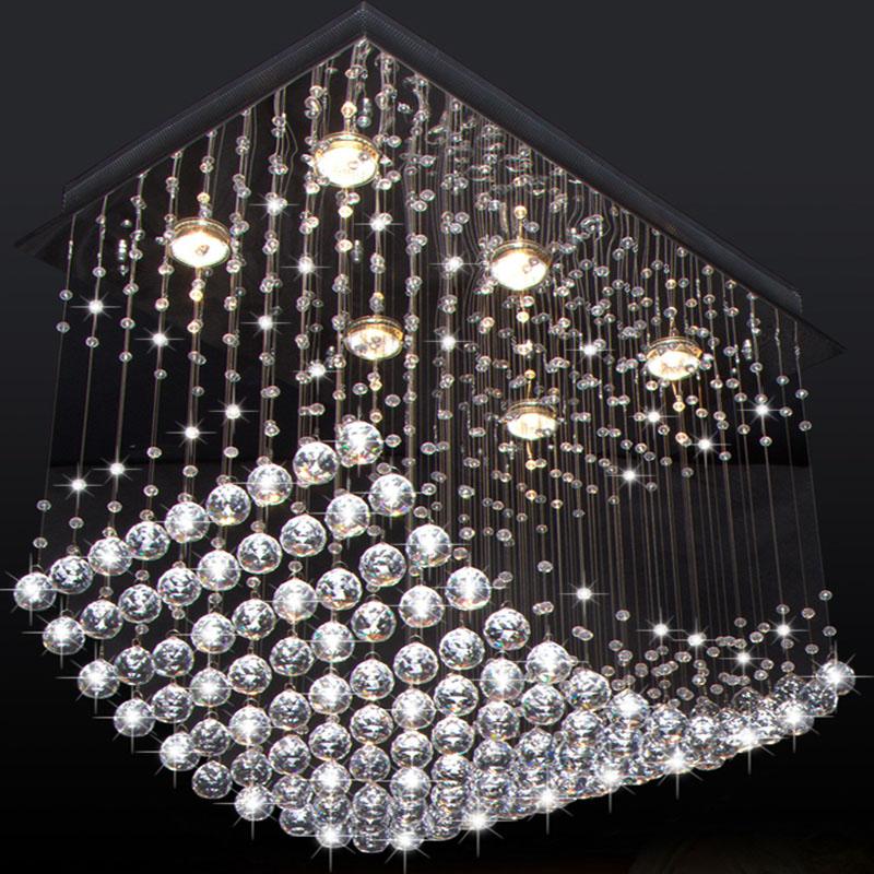 Luxury Foyer Lighting : Luxury modern led wave clear crystal chandelier light
