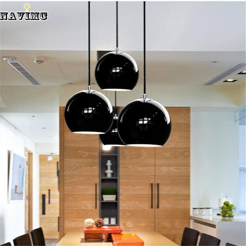 modern black led pendant lights for coffee shop lights dining room cafe simple lamp