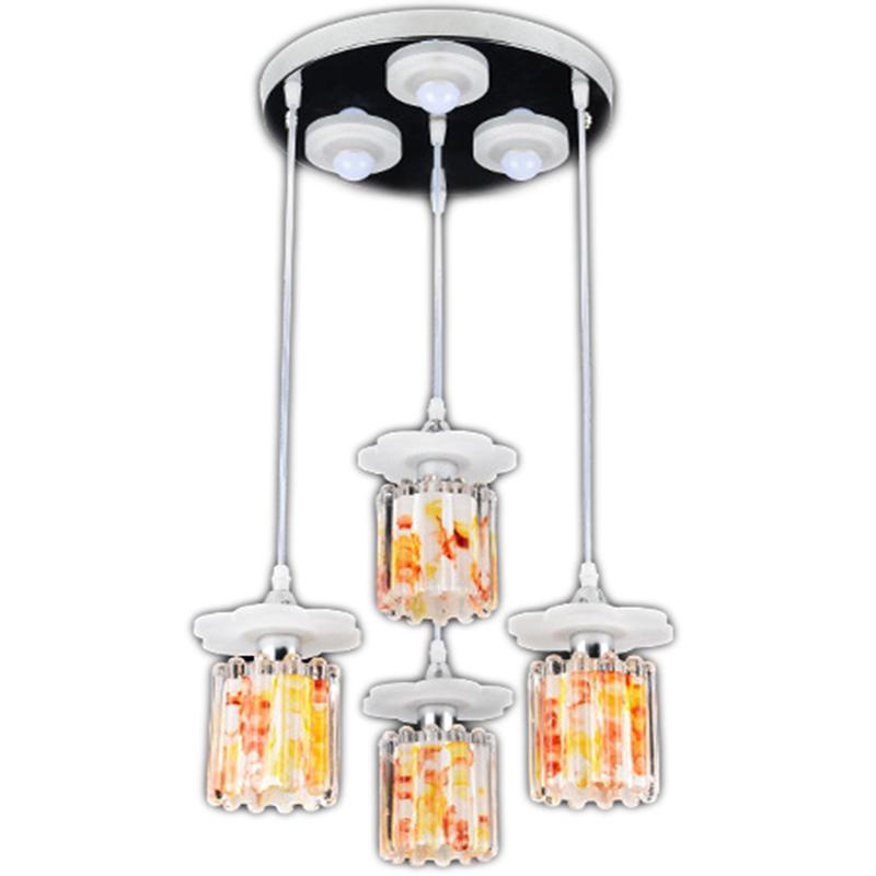 Modern reflective acrylic pendant lights dinning room for Lustre suspension moderne
