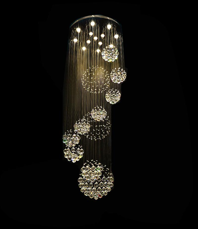 modern led super large ball design crystal chandelier. Black Bedroom Furniture Sets. Home Design Ideas