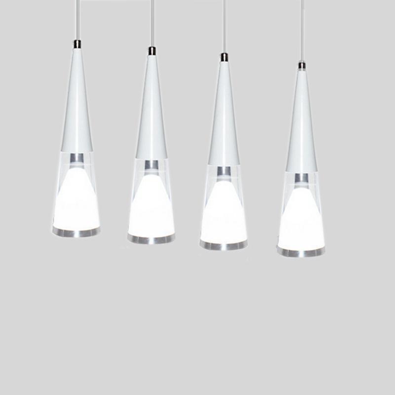 Modern White Led Pendant Lights For Bar Crystal Subuliform
