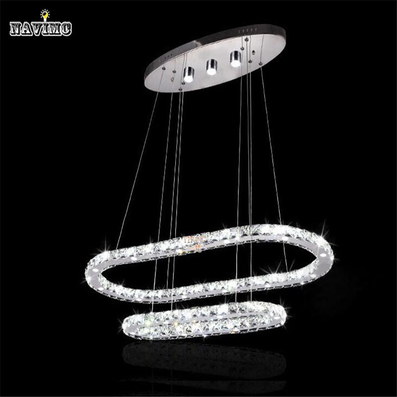 new art deco annular led k9 lustre crystal chandelier. Black Bedroom Furniture Sets. Home Design Ideas