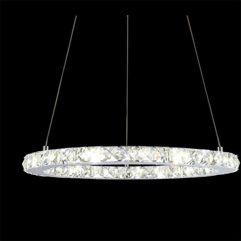 oval design brief led crystal chandelier modern fashion 3 sides ...