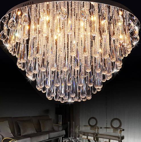 art deco modern luster crystal chandelier lights faixture for foyer bedroom el project flush. Black Bedroom Furniture Sets. Home Design Ideas
