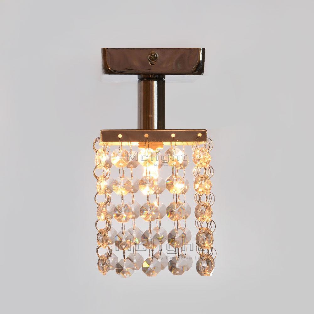 Crystal led flush mount ceiling lights dia 80mm for corridor crystal led flush mount ceiling lights dia 80mm for corridor passage aisle lamp indoor decorative light aloadofball Images