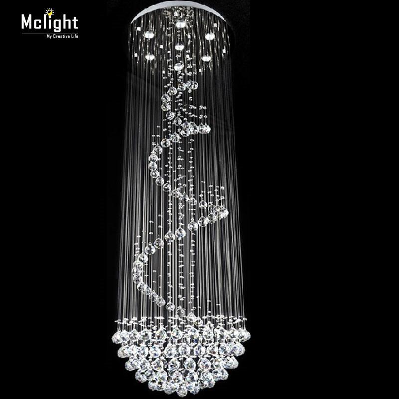 Long size crystal ceiling light fixture modern lustre de for Long ceiling light fixture