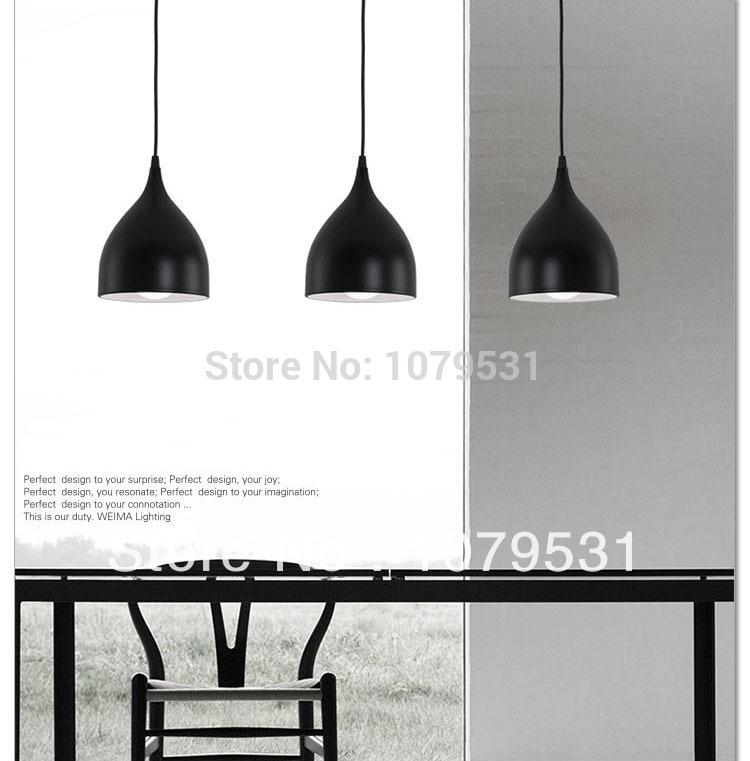 modern 3 heads black red dining room comedor pendant light bar lamps
