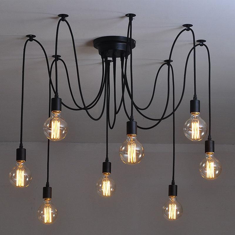 modern nordic retro edison bulb light chandelier vintage loft ...