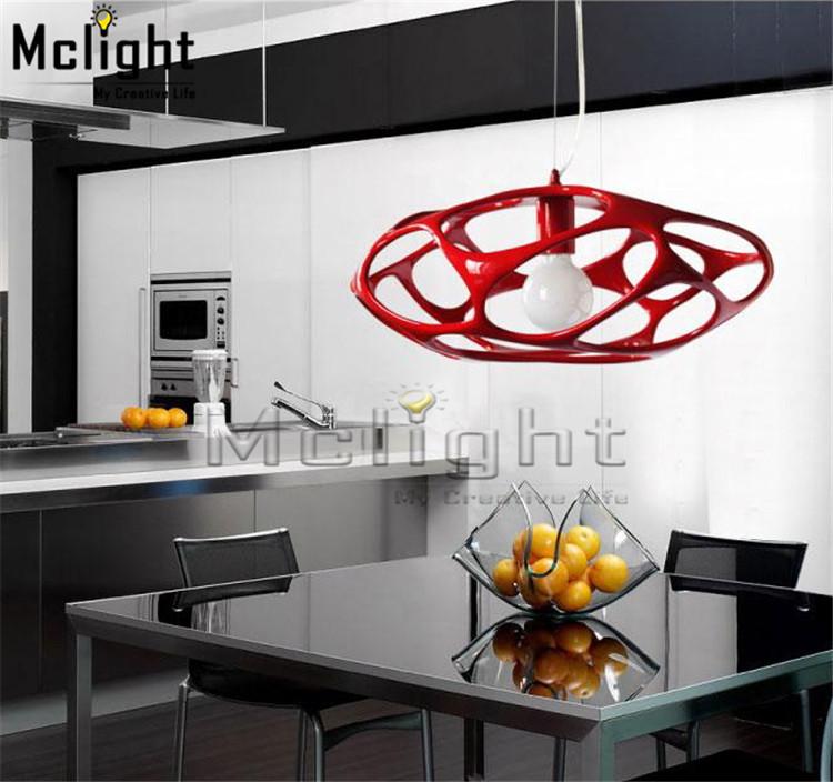 modern resin lustre led black red led chandelier light fixture ...