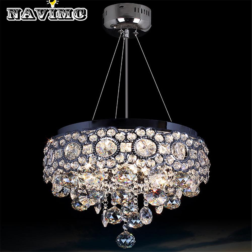 modern round vanity lustre led k9 crystal chandelier light fixture home lighting kitchen dining. Black Bedroom Furniture Sets. Home Design Ideas