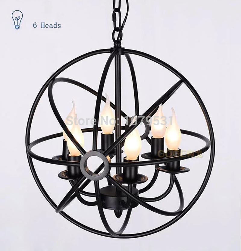 Nordic Rh Vintage Pendant Light Sphere Fixture Foucault S